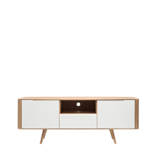 Gazzda Ena TV Sideboard Two - Houten TV meubel (160x42x60)