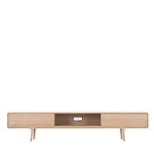 Gazzda Fawn Lowboard - Houten TV meubel 2 lades (220x45x45)