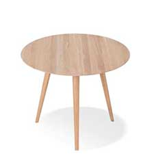 Gazzda Stafa Round Table - Ronde houten eettafel (90x90x75,5)